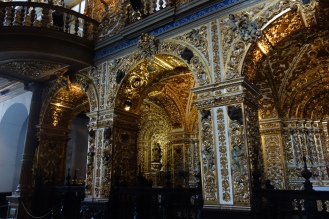 One of the best churches in Salvador, with gold covering all the ceiling and walls