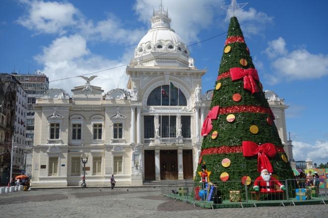 Christmas decorations by Rio Branco Palace