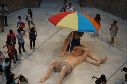 Sculpture by Ron Mueck